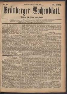 Grünberger Wochenblatt: Zeitung für Stadt und Land, No. 80. (12. Juli 1882)