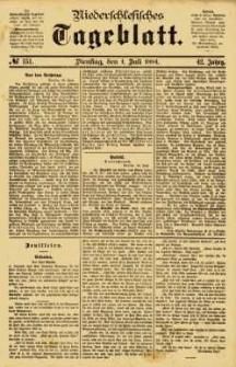 Niederschlesisches Tageblatt, no 151 (Dienstag, den 1. Juli 1884)