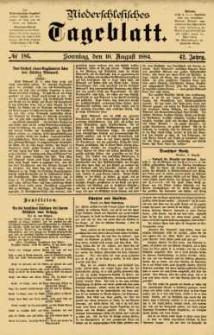 Niederschlesisches Tageblatt, no 186 (Sonntag, den 10. August 1884)