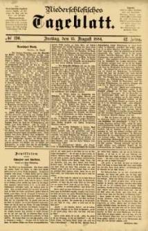 Niederschlesisches Tageblatt, no 190 (Freitag, den 15. August 1884)