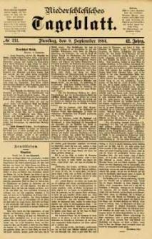 Niederschlesisches Tageblatt, no 211 (Dienstag, den 9. September 1884)