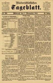 Niederschlesisches Tageblatt, no 260 (Mittwoch, den 5. November 1884)