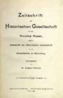Zeitschrift der Historischen Gesellschaft für die Provinz Posen, zugleich Zeitschrift der Historischen Gesellschaft für den Netzedistrikt zu Bromberg, Jg. 22 (1907)
