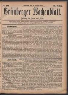 Grünberger Wochenblatt: Zeitung für Stadt und Land, No. 101. (30. August 1882)