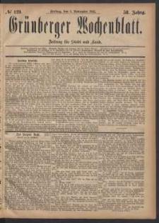 Grünberger Wochenblatt: Zeitung für Stadt und Land, No. 129. (3. November 1882)