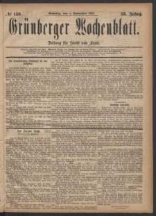 Grünberger Wochenblatt: Zeitung für Stadt und Land, No. 130. (5. November 1882)