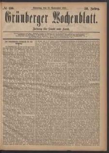 Grünberger Wochenblatt: Zeitung für Stadt und Land, No. 136. (19. November 1882)
