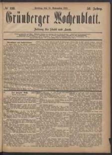 Grünberger Wochenblatt: Zeitung für Stadt und Land, No. 138. (24. November 1882)
