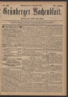 Grünberger Wochenblatt: Zeitung für Stadt und Land, No. 152. (27. December 1882)
