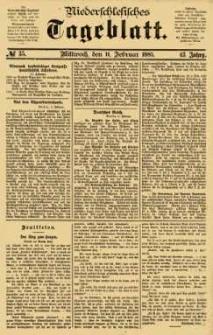 Niederschlesisches Tageblatt, no 35 (Mittwoch, den 11. Februar 1885)