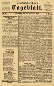 Niederschlesisches Tageblatt, no 45 (Sonntag, den 22. Februar 1885)