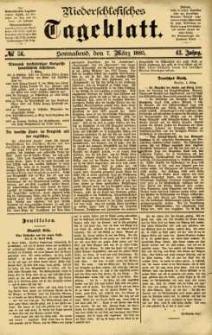 Niederschlesisches Tageblatt, no 56 (Sonnabend, den 7. März 1885)