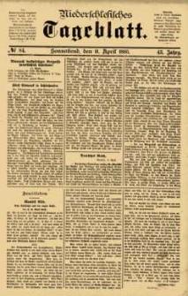 Niederschlesisches Tageblatt, no 84 (Sonnabend, den 11. April 1885)
