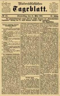 Niederschlesisches Tageblatt, no 111 (Donnerstag, den 14. Mai 1885)