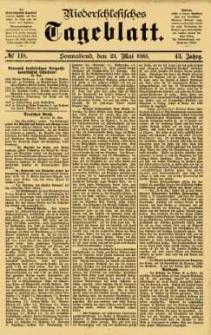 Niederschlesisches Tageblatt, no 118 (Sonnabend, den 23. Mai 1885)