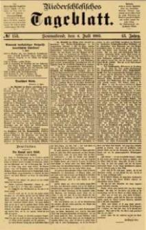Niederschlesisches Tageblatt, no 153 (Sonnabend, den 4. Juli 1885)