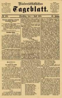 Niederschlesisches Tageblatt, no 155 (Dienstag, den 7. Juli 1885)