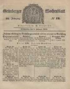 Grünberger Wochenblatt, No. 12. (8. Februar 1849).
