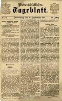 Niederschlesisches Tageblatt, no 211 (Donnerstag, den 10. September 1885)