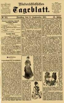 Niederschlesisches Tageblatt, no 215 (Dienstag, den 15. September 1885)