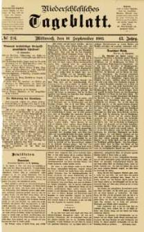 Niederschlesisches Tageblatt, no 216 (Mittwoch, den 16. September 1885)