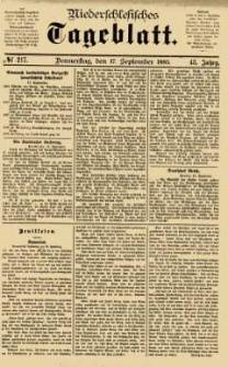 Niederschlesisches Tageblatt, no 217 (Donnerstag, den 17. September 1885)