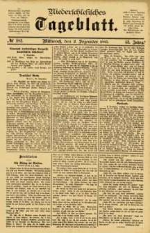 Niederschlesisches Tageblatt, no 282 (Mittwoch, den 2. Dezember 1885)
