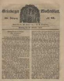Grünberger Wochenblatt, No. 87. (29. October 1849).