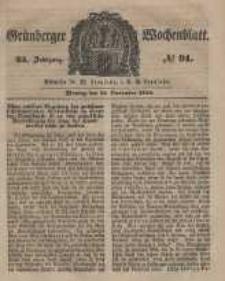 Grünberger Wochenblatt, No. 91. (12. November 1849).