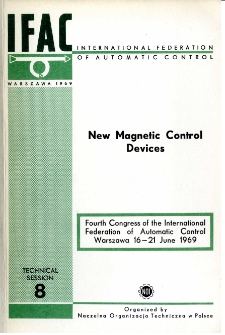 New Magnetic Control Devices = Nowe elementy magnetyczne (8)
