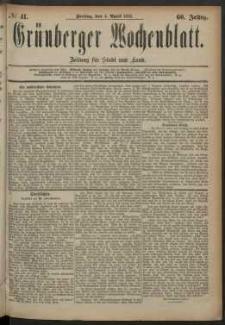Grünberger Wochenblatt: Zeitung für Stadt und Land, No. 41. (4. April 1884)
