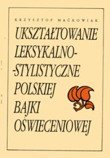 Ukształtowanie leksykalno-stylistyczne polskiej bajki oświeceniowej