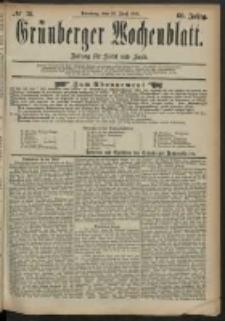 Grünberger Wochenblatt: Zeitung für Stadt und Land, No. 78. (29. Juni 1884)