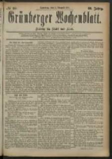 Grünberger Wochenblatt: Zeitung für Stadt und Land, No. 93. (3. August 1884)