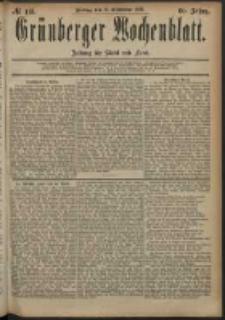 Grünberger Wochenblatt: Zeitung für Stadt und Land, No. 113. (19. September 1884)