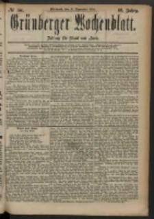 Grünberger Wochenblatt: Zeitung für Stadt und Land, No. 151. (17. December 1884)