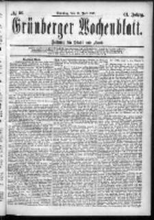 Grünberger Wochenblatt: Zeitung für Stadt und Land, No. 86. (19. Juli 1885)