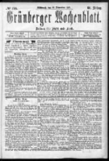 Grünberger Wochenblatt: Zeitung für Stadt und Land, No. 155. (30. December 1885)