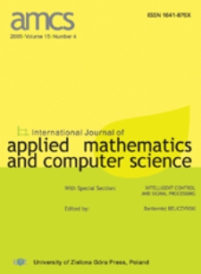 International Journal of Applied Mathematics and Computer Science (AMCS) 2005, volume 15, number 2