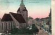 Gorzów Wlkp. / Landsberg a. W.; Markt mit Marienkirche