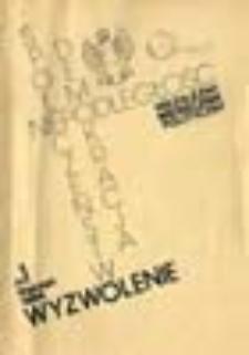Wyzwolenie: społeczeństwo, demokracja, niepodległość: niezależny miesięcznik polityczny, nr 1 (styczeń 1984)