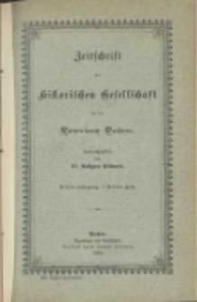 Zeitschrift der Historischen Gesellschaft für die Provinz Posen: Dritter Jahrgang. - Drittes Heft.