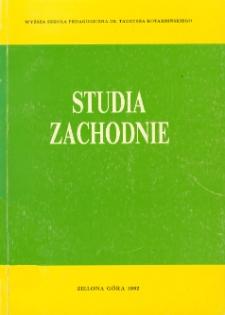 Studia Zachodnie, tom 1