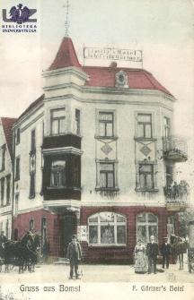 Babimost / Gruss aus Bomst; F. Gärtner`s Hotel