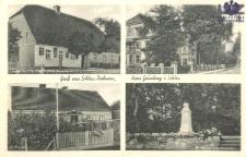 Drzonów / Drehnow; Gruss aus Schles.-Drehnow, Kreis Grünberg i. Schles