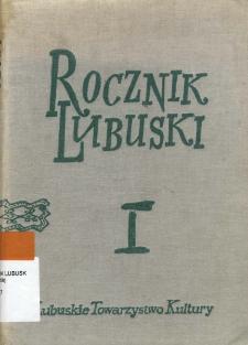 Rocznik Lubuski (t. 1) - spis treści