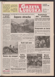 Gazeta Lubuska R. XLV [właśc. XLVI], nr 96 (24 kwietnia 1997). - Wyd. 1