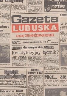 Gazeta Lubuska : dawniej Zielonogórska-Gorzowska R. XLI [właśc. XLII], nr 77 (1 kwietnia 1993). - Wyd 1