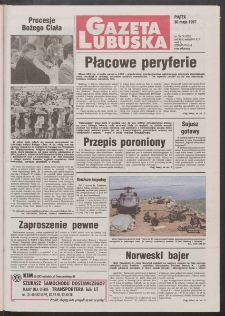 Gazeta Lubuska R. XLV [właśc. XLVI], nr 124 (30 maja 1997). - Wyd. 1