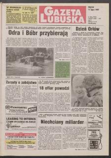 Gazeta Lubuska R. XLV [właśc. XLVI], nr 160 (11 lipca 1997). - Wyd. 1